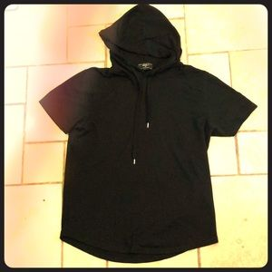Forever 21 Men's Sleeveless Black Hoodie Size M